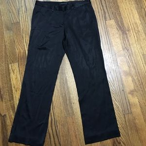 Theory pants black silky material size 4